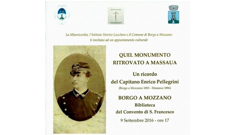 Un convegno per ricordare il Capitano Enrico Pellegrini, morto a Massaua nel 1886