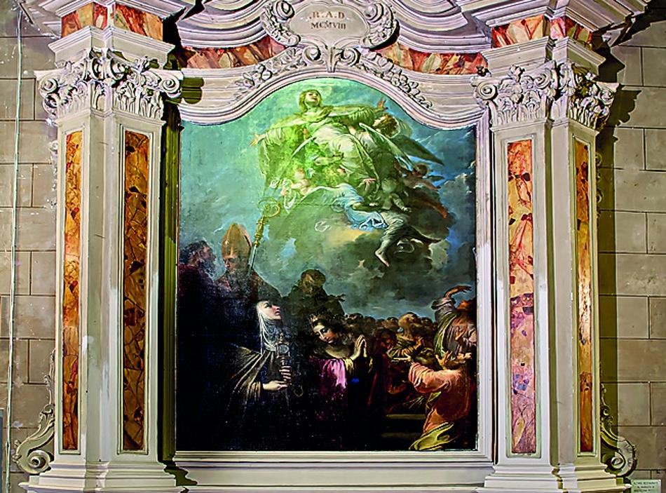 LA FESTA DI MARIA ASSUNTA IN CIELO. Al convento del Borgo una grande tela di Pietro Ricchi