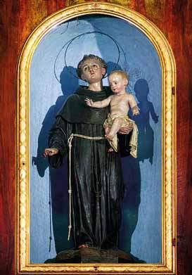 La statua di S. Antonio da Padova