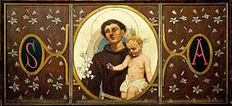 Il paliotto dell'altare di S. Antonio