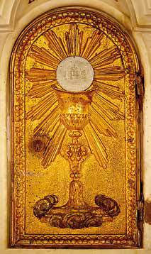 La porticina del ciborio dell'altare maggiore