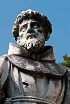 Particolare del S. Francesco prima del restauro