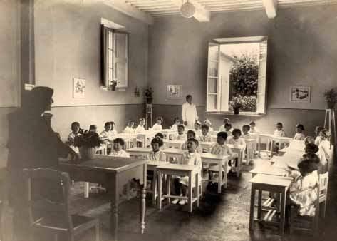 L'asilo delle suore negli anni '30