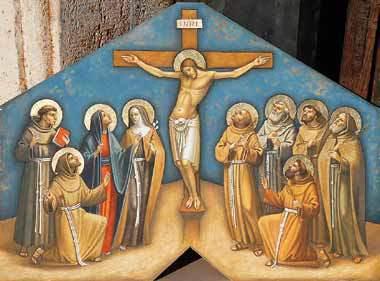 PIERO CASENTINI, Bozza del dipinto per una chiesa delle Clarisse
