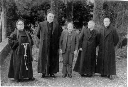 P. Bernardino, Don Magnani, E. Martini, Don Caselli, Don Petretti