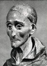 Statua di S. Bernardino (chiesa di S. Iacopo): particolare