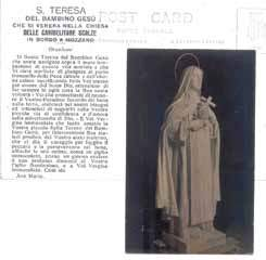 La statua in gesso di S. Teresa