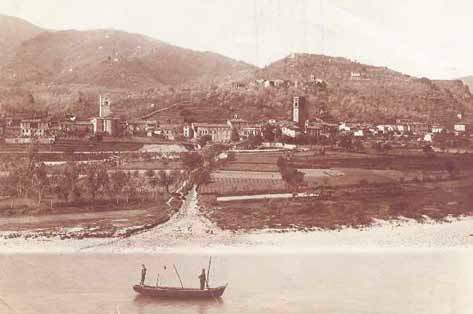 Panorama del Borgo alla foce del rio di Oneta (1910)