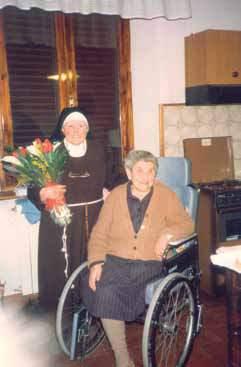 Le sorelle Lotti il giorno della donazione