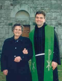 1993, Padre Lorenzo con la mamma