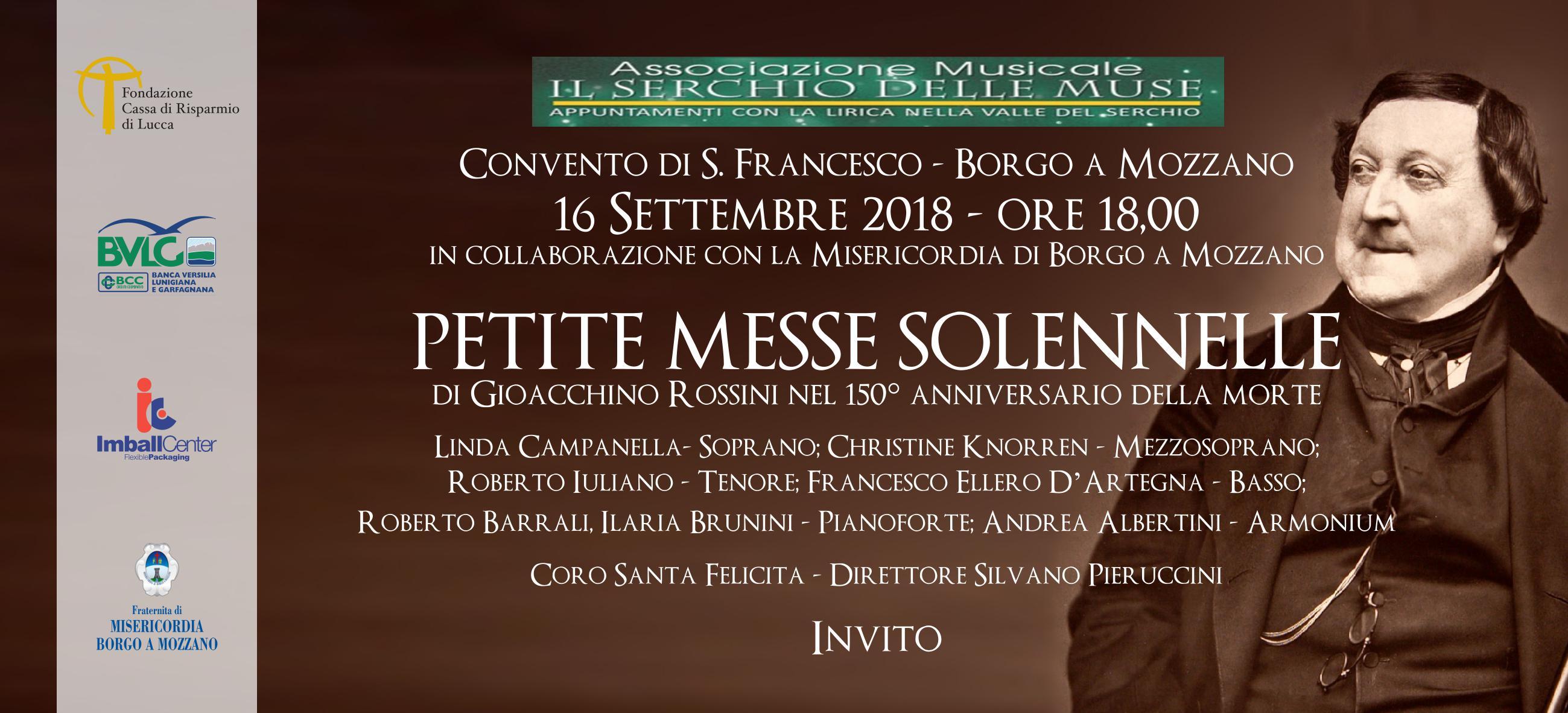 Concerto: Petite Messe Solennelle di Gioacchino Rossini